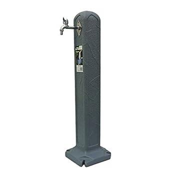 Wassersäule Wasserzapfsäule Entnahmestelle Wasserzapfstelle Anthrazit und Grau