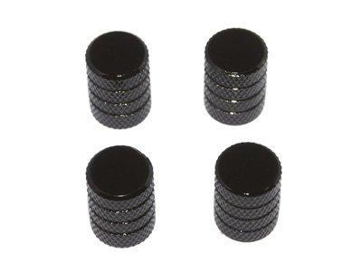 Black Valve Stem Caps (Tire Rim Wheel Aluminum Valve Stem Caps - Black)
