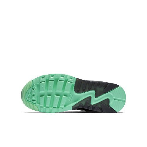 on sale 88021 b57a8 Galleon - Nike Air Max 90 Ultra SE (GS) Girls Running-shoes 844600-003 6Y -  Black Green Glow-Pure Platinum