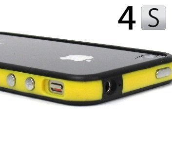 Yellow and Black Premium Bumper Case for Apple® iPhone® 4S / 4 - (AT&T, Verizon, Sprint) (Sonic Iphone 4s Case)