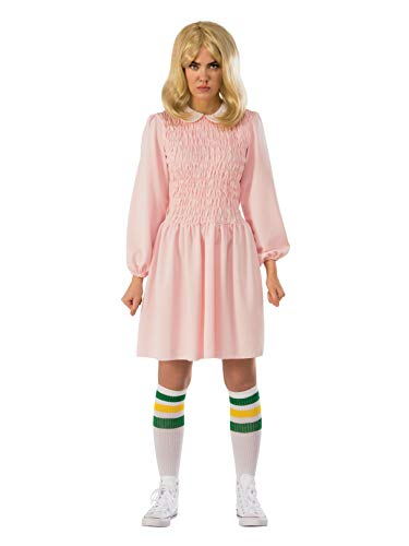 Rubie's Women's Stranger Things Season 1 Adult Eleven Replica Costume Dress, Pink, -