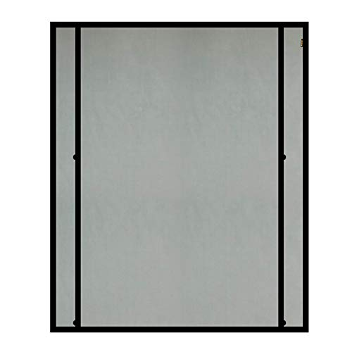 MAGZO Magnetic Screen Door 60x80 Inch, Fiberglass Large Double Opening Magnet Door Screen Mesh Convenient Access with Heavy Duty Fit Door Size Up to 60 x 80 inch
