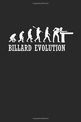 BILLARD EVOLUTION: Billard Notizbuch Billiard Notebook Pool Planer Snooker Bullet Journal 6x9 por Pete Sumball