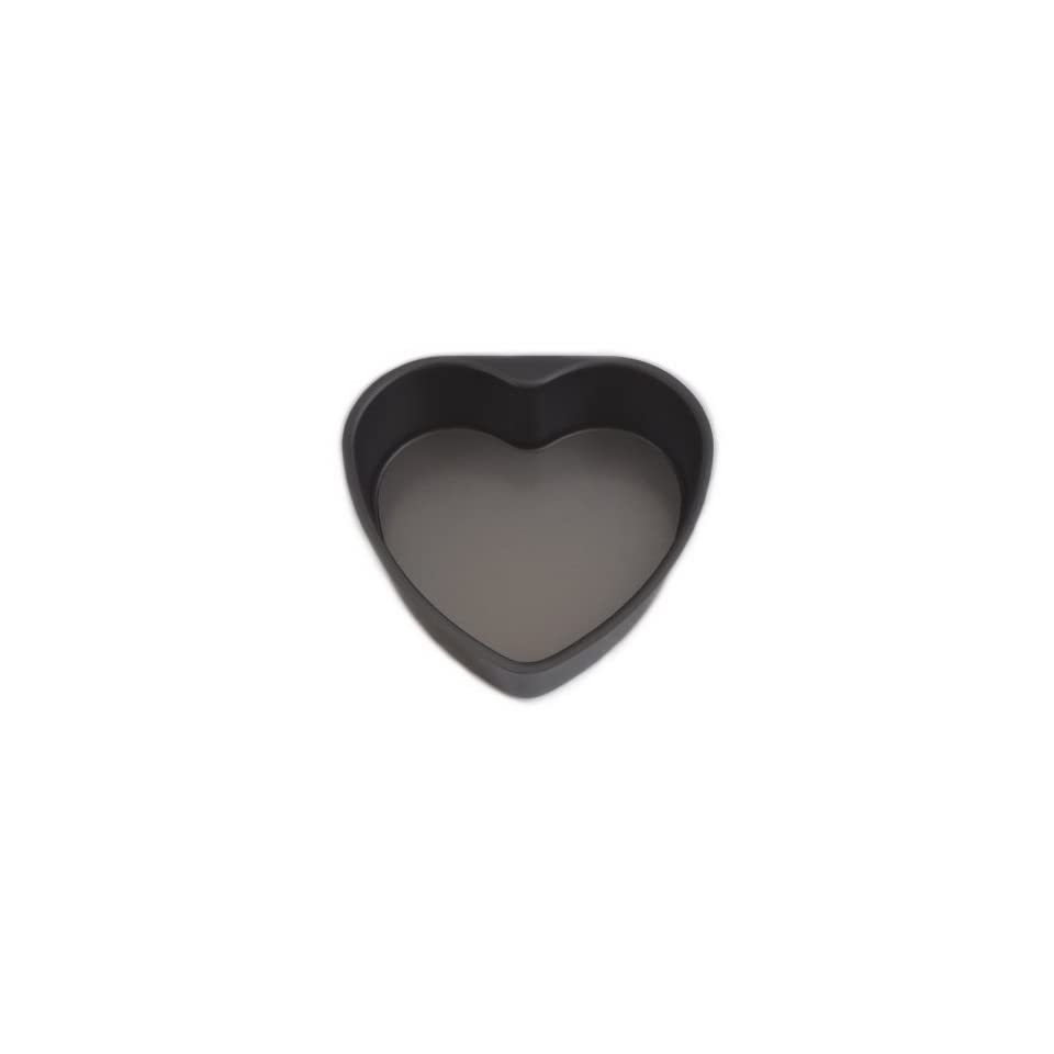 Heart Shaped Cake Pan with Removable Bottom, Hard Anodized