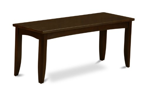 East West Furniture PFB-CAP-W Dining Bench with Wood Seat, Cappuccino Finish (Room Furniture Dining Banquette)