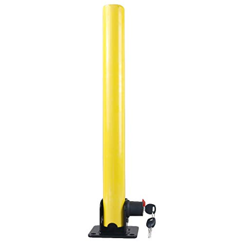 (Parking Post Home Driveways round Folding Fold Down Security Post Lock)