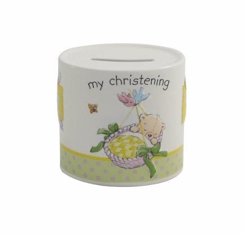 Aynsley My Christening Money Box, White by Aynsley