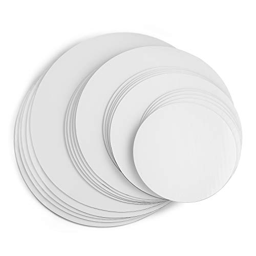 - Cake Boards, White Round Cake Circle base - 6,8, 10 and 12 inch, 5 of each Size