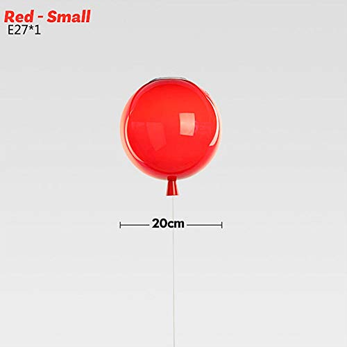 Longshow Color Balloon Decorative Ceiling Lamp Modern LED Pendant Lamp Balloon Bedroom Ceiling Light for Children's Room LED Balloon Chandeliers for Entrance Bedroom Exhibition Hall -