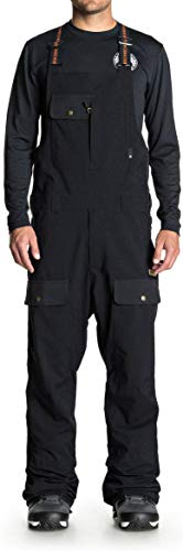 DC Men's Platoon Snow SKI BIB, Black, L (Mens Skiing Bibs)