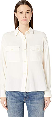 Vince Women's Utility Shirt Optic White Small