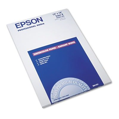 Epson Plotter Paper (Epson Watercolor Paper Radiant, White, 13 x 19 Inches, 20 Sheets (S041351))
