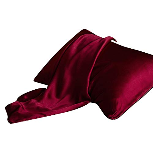 Weiliru Pillow Cover Soft Mulberry Pure Silk Pillowcase Covers Silk Anti-Ageing Beauty Pillowcases,18.9x29.1''