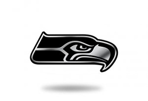 Seattle Seahawks Nfl Eye - Rico Industries NFL Seattle Seahawks Chrome Finished Auto Emblem 3D Sticker