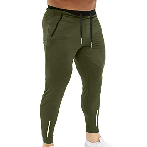 YKARITIANNA Summer New Men Splicing Printed Overalls Casual Pocket Sport Work Casual Trouser Pants ()