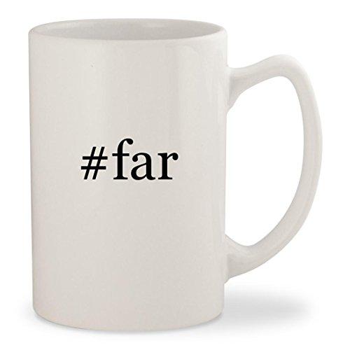 #far - White Hashtag 14oz Ceramic Statesman Coffee Mug Cup