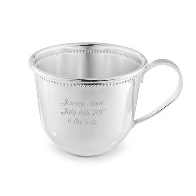 (Things Remembered Personalized Silver Baby's First Cup with Engraving Included)