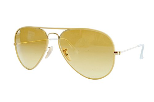 Ray-Ban AVIATOR FULL COLOR - ARISTA Frame YELLOW GRADIENT BROWN PHOTO Lenses 58mm - Ban Ray Yellow