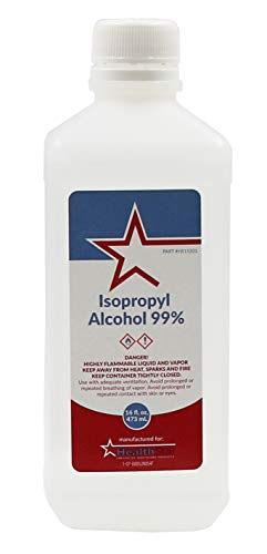 Healthstar 99% 16 Ounce Isopropyl Rubbing Alcohol - Cleans, Disinfects, Relieves Muscle Pain - Made in USA ()