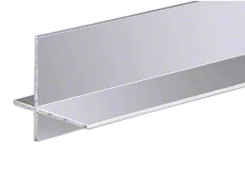 CRL Brite Anodized Aluminum Cross Corner Extrusion - 12 ft - Aluminum Anodized Cross Corner