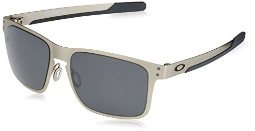 Oakley HOLBROOK Sonnenbrille Satin Argenté Chrome Grey OO4123 METAL Blackiridium ZqnZ4Hr