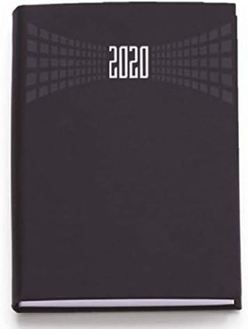 Agenda 2020 bigiornaliera 7x10 cm tascabile copertina matra 2 giorni per pagina Nero