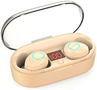 Cetengkeji AYD TWSブルートゥースステレオヘッドフォン充電ケース&マイク付きトゥルーワイヤレスヘッドセット。スポーツ用ランニングベース用プレミアムサウンド - スーパーイージーペア (Color : Beige)