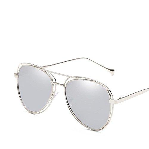 Hueco G Gafas Brillante Sol Color de Europea General Doble Metal Marea círculo creativos Americana Mujer Shing Moda Hombre Regalos Marco y Axiba awq0Y1g