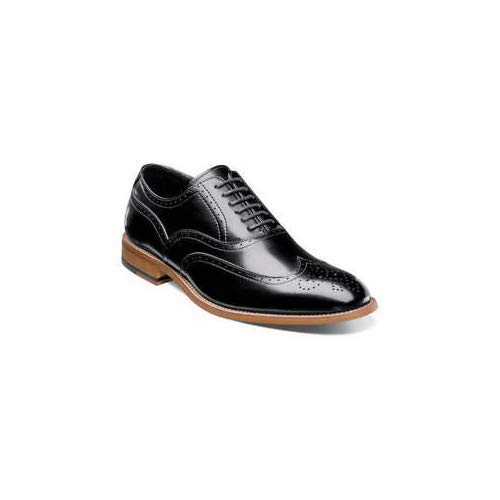 STACY ADAMS Men's Dunbar-Wingtip Oxford, Black, 8.5 M US (Bend In Shopping)
