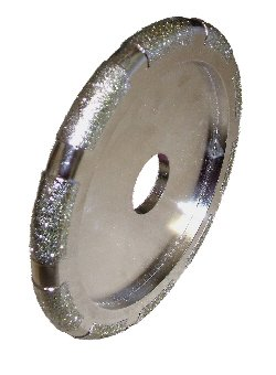 Diamond electroplated precision cutting discs for marble, granite, GRP, plastics, glass and tungsten carbide. New with superficial surface scratches. (115mm x 10mm x 22mm D1A1 Radius) Abtec