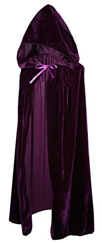 Crizcape Kids Costumes Capes Cloak with Hood for Halloween Party Ages 2 to 18 (Purple, S/60CM)