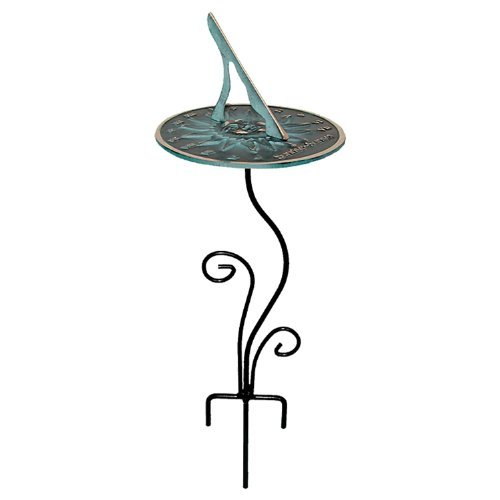 Rome B109 Flowerbed Sundial Base, Wrought Iron with Black Powder Coat, 20-Inch Height, Model: B109 , Home & Outdoor (Pedestal Armillary Sundial)