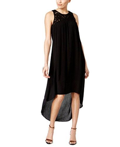 (Cable & Gauge Cupio by High-Low Shift Dress (Black, L))