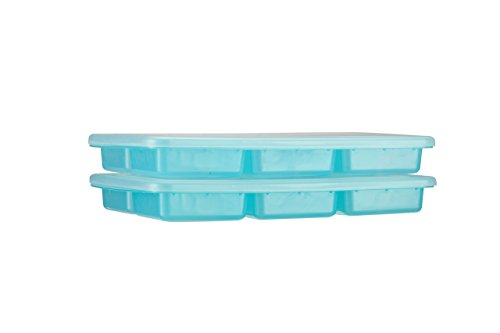 Ez Freeze Food (Preppin' Smart EZ Pop Baby Food Freezer Tray with Stacking Lid by Innobaby - Perfect 3 oz Storage Container for Homemade Baby Food, Vegetable & Fruit Purees and Breast Milk - BPA Free.)