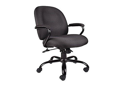 Fabric Task Chair Crepe - Heavy Duty Big and Tall Fabric Task Chair Black Crepe Fabric/Black Frame Dimensions: 25