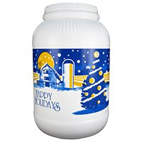 Gourmet Popcorn Flavor Saver Canister - Happy Holidays - Cinnamon - Flavored Cinnamon Popcorn