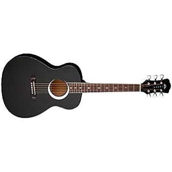 Luna Aurora Borealis 3/4-Size Acoustic Guitar - Black Pearl