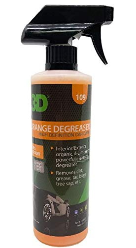 3D Orange Degreaser Citrus Cleaner | Safe, Green and Organic Multi-Use Cleaner for Interior & Exterior Use | Removes Grease & Grime | Use on Plastic, Cloth, Vinyl, Metal, Leather & Carpet (16 oz.)