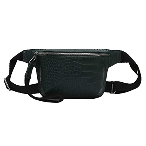 Women Alligator Print Leather Elegant Fanny Pack Embossed Crocodile Pattern Waist Bag Belt Bag Purse Phone Wallet Bum Bags Fanny Packs (Embossed Hobo Alligator Handbag)