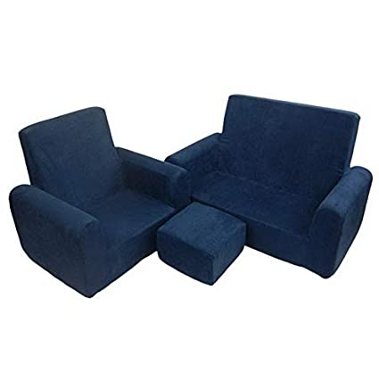 Amazon.com: Hebel Canvas Sofa Chair Ottoman Set | Model SF ...