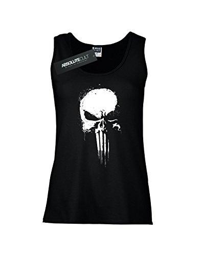 Marvel Skull Woman Punisher Top Spray Negro Tank wwzPRTq