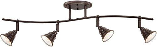 (Quoizel EVE1404PN Eastvale Vintage Industrial Track Light Kit, 4-Light, 200 Watts, Palladian Bronze (11