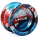 Responsive Magic YoYo V6 LOCUS Kid Beginner Yo-yos set Tria-colors Splashes Alloy (Red Blue Silver)
