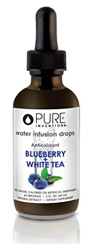 Pure Inventions, Antioxidant Fruit Extract Formulations Water Enhancers (60 Servings) - 2 Oz (Blueberry + White Tea)