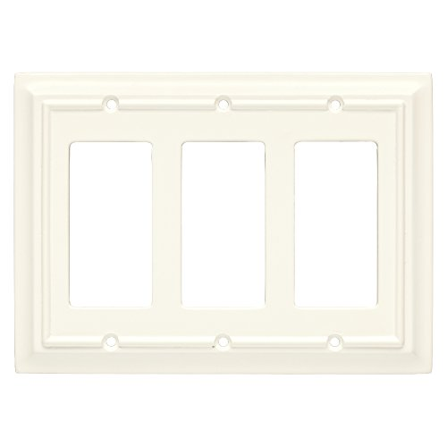 Brainerd 126337 Wood Architectural Triple Decorator Wall Plate / Switch Plate / (Carmen 6 Light)