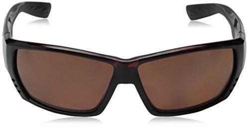 Costa Del Mar TA 25 Tuna Alley White Square Sunglasses for Mens - Size 580G (Blue Mirror Lens) by Costa Del Mar (Image #2)