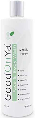 Natural Face and Body Wash, with Manuka Honey, Aloe Vera and Coconut Oil - Organic Skin Care Treatment - Anti Aging Face Wash & Skin Cleanser - Gentle and Safe for Sensitive Skin (16 oz)