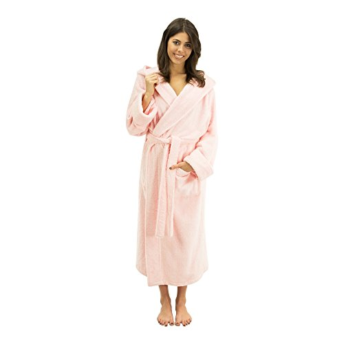 Bamboo Hooded Robe (Comfy Robes Women's Personalized Bamboo Hooded Robe, L/XL Rose Pink)