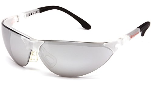 Pyramex SCC2870S Rendezvous Fully Adjustable Safety Glasses, Silver Mirror Lens, Crystal Clear Frame