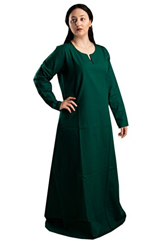 byCalvina Costumes Fraye Viking Medieval Women Dress Made in Turkey,Frst.GRN-M
